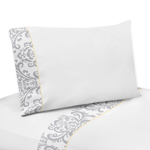 JoJo Designs 3 pc Twin Sheet Set for Yellow and Gray Aver...