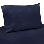 3 pc Solid Blue Twin Sheet Set for Arrow Bedding Collection