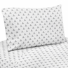 4 pc Triangle Print Queen Sheet Set for Grey, Navy Blue and Mint Woodland Arrow Bedding Collection by Sweet Jojo Designs