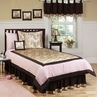 Abby Rose Pink and Brown Children's Bedding - 4 pc Twin Set