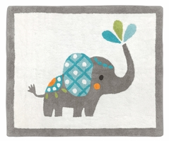 Accent Floor Rug for Mod Elephant Collection by Sweet Jojo Designs