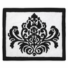 Black and White Damask Accent Floor Rug for Sloane Collection by Sweet Jojo Designs