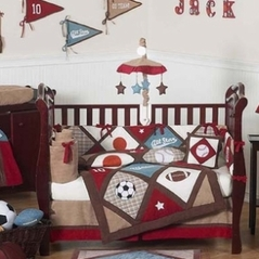All Star Sports Baby Bedding - 9 pc Crib Set