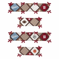 All Star Sports Collection Crib Bumper by Sweet Jojo Designs