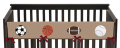 All Star Sports Baby Crib Long Rail Guard Cover by Sweet Jojo Designs