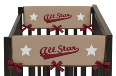 All Star Sports Baby Crib Side Rail Guard Covers by Sweet Jojo Designs - Set of 2
