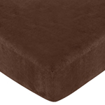All Star Sports Fitted Crib Sheet for Baby and Toddler Bedding Sets by Sweet Jojo Designs - Chocolate Microsuede