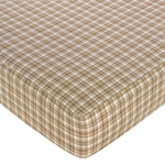 All Star Sports Fitted Crib Sheet for Baby and Toddler Bedding Sets by Sweet Jojo Designs - Plaid Print
