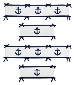 Anchors Away Collection Crib Bumper by Sweet Jojo Designs
