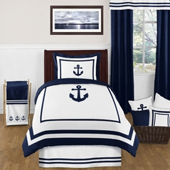 Anchors Away Nautical 4pc Twin Bedding Set