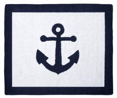 Anchors Away Nautical Accent Floor Rug by Sweet Jojo Designs