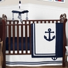 Anchors Away Nautical Baby Bedding - 4pc Boys Crib Set by Sweet Jojo Designs