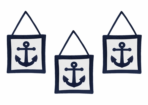 Anchors Away Nautical Wall Hanging Accessories by Sweet Jojo Designs - Click to enlarge