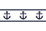 Anchors Away Nautical Childrens and Kids Modern Wall Paper Border