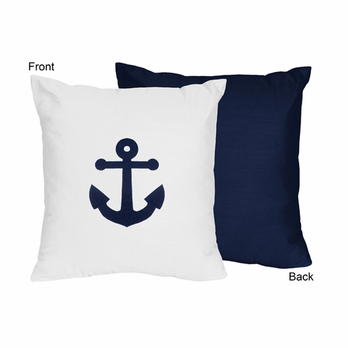 Anchors Away Nautical Decorative Accent Throw Pillow by Sweet Jojo Designs - Click to enlarge