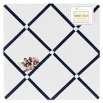 Anchors Away Nautical Fabric Memory/Memo Photo Bulletin Board