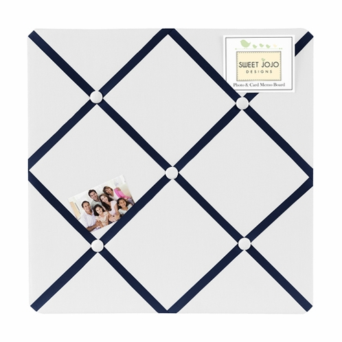 Anchors Away Nautical Fabric Memory/Memo Photo Bulletin Board - Click to enlarge