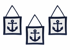 Anchors Away Nautical Wall Hanging Accessories by Sweet Jojo Designs