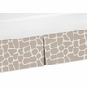 Animal Print Crib Bed Skirt for Giraffe Neutral Bedding Sets