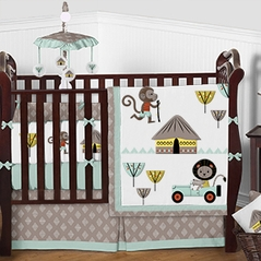 Animal Safari Explorer Baby Bedding - 9pc Boys Girls Unisex Crib Set by Sweet Jojo Designs
