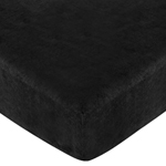 Animal Safari Fitted Crib Sheet for Baby and Toddler Bedding Sets by Sweet Jojo Designs - Black Microsuede