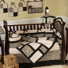 Animal Safari Pattern Jungle Baby Bedding - 9 pc Crib Set