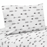 Arrow Print 3 pc Twin Sheet Set for Black and White Fox Bedding Collection by Sweet Jojo Designs