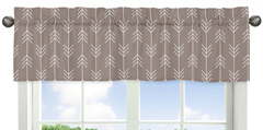 Arrow Print Window Valance for Outdoor Adventure Collection by Sweet Jojo Designs