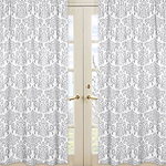 Avery Damask Window Treatment Panels by Sweet Jojo Designs - Set of 2