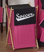 Baby and Kids Clothes Girls Soccer Laundry Hamper by Sweet Jojo Designs
