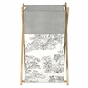 Baby and Kids Clothes Laundry Hamper for Black French Toile Bedding