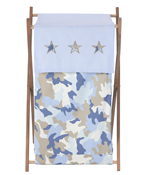 Baby and Kids Clothes Laundry Hamper for Blue and Khaki Camo Bedding