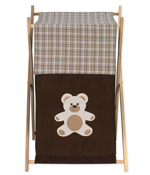 Baby and Kids Clothes Laundry Hamper for Chocolate Teddy Bear Bedding