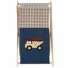Baby and Kids Clothes Laundry Hamper for Construction Zone  Bedding