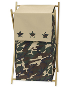 Baby and Kids Clothes Laundry Hamper for Green Camo Bedding