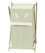 Baby and Kids Clothes Laundry Hamper for Green Dragonfly Dreams Bedding