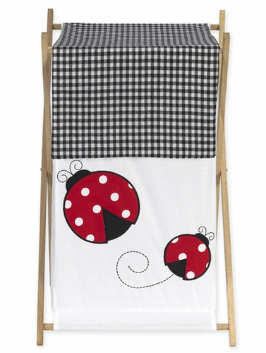 Baby and Kids Clothes Laundry Hamper for Ladybug Polka Dot Bedding Set - Click to enlarge