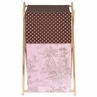 Baby and Kids Clothes Laundry Hamper for Pink and Brown Toile and Polka Dot Bedding