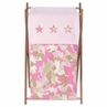 Baby and Kids Clothes Laundry Hamper for Pink and Khaki Camo Bedding