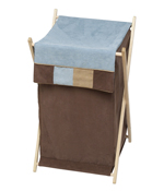 Baby and Kids Clothes Laundry Hamper for Soho Blue and Brown Bedding by Sweet Jojo Designs