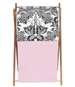 Baby and Kids Clothes Pink and Black Sophia Laundry Hamper by Sweet Jojo Designs