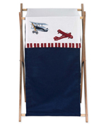 Baby and Kids Clothes Vintage Aviator Airplane Laundry Hamper by Sweet Jojo Designs