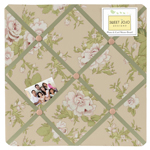 Baby Annabel Fabric Memory/Memo Photo Bulletin Board