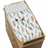 Baby Changing Pad Cover for Feather Collection by Sweet Jojo Designs