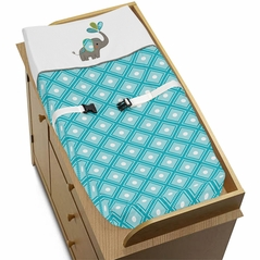 Baby Changing Pad Cover for Mod Elephant Collection by Sweet Jojo Designs