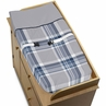 Baby Changing Pad Cover for Navy and Grey Plaid Collection by Sweet Jojo Designs