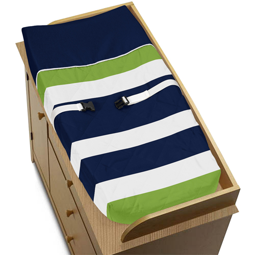 JoJo Designs Baby Changing Pad Cover for Navy and Lime St...