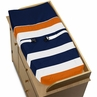 Baby Changing Pad Cover for Navy Blue and Orange Stripe Collection by Sweet Jojo Designs