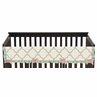 Baby Crib Long Rail Guard Cover for Gold, Mint, Coral and White Ava Collection