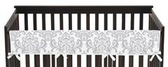 Baby Crib Long Rail Guard Cover for Lavender and Gray Elizabeth Collection by Sweet Jojo Designs